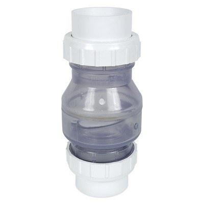 PVC Rohr Rückschlagventil transparent